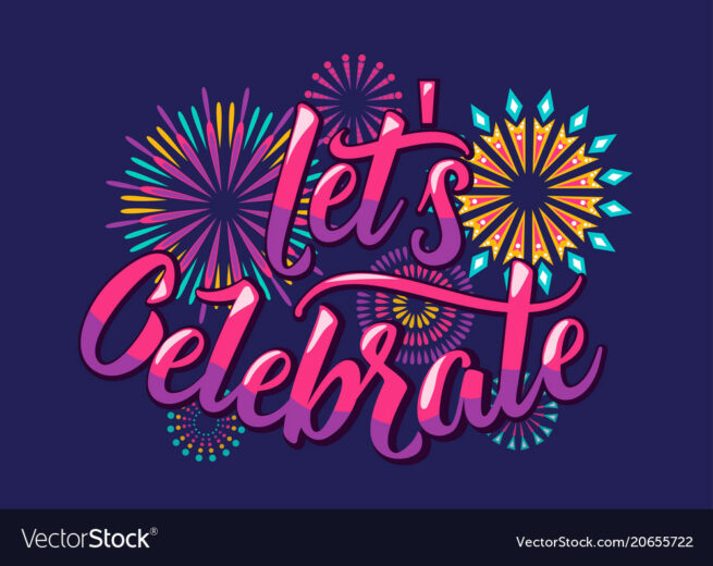 lets celebrate background with color letters vector 20655722
